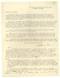 Letter from Katherine Anne Porter to Glenway Wescott, February 01, 1936