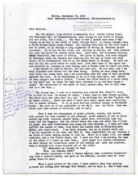 Letter from Katherine Anne Porter to Malcolm Cowley, September 25, 1931
