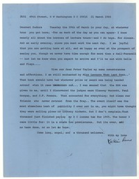 Letter from Katherine Anne Porter to Eudora Welty, March 21, 1966