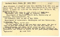Letter from Katherine Anne Porter to Glenway Wescott, July 25, 1958