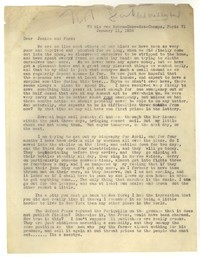 Letter from Katherine Anne Porter to Ford Maddox Ford and Janice Biala, January 11, 1936