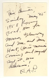 Letter from Katherine Anne Porter to Monroe Wheeler, Glenway Westcott, and Mr. and Mrs. Hart, May 25, 1958