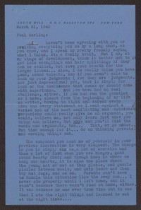 Letter from Katherine Anne Porter to Paul Porter Jr., March 31, 1943