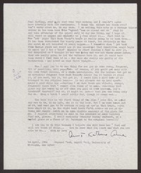 Letter from Katherine Anne Porter to Paul Porter Jr., April 14, 1954