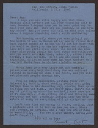 Letter from Katherine Anne Porter to Ann Holloway Heintze, July 03, 1946