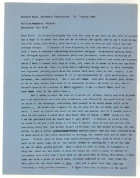Letter from Katherine Anne Porter to William Humphrey, January 12, 1958