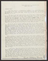 Letter from Katherine Anne Porter to Paul Porter Jr., August 28, 1943