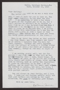 Letter from Katherine Anne Porter to Albert Erskine, October 12, 1940
