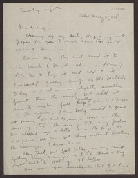 Letter from Katherine Anne Porter to Eugene Pressly, after January 29, 1937