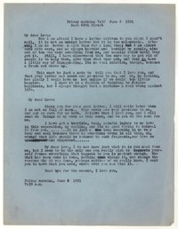Letter from Katherine Anne Porter to William Goyen, June 08, 1951