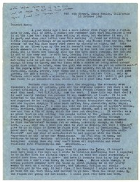 Letter from Katherine Anne Porter to Mary Louis Doherty, October 13, 1945