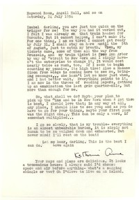 Letter from Katherine Anne Porter to Isabel Bayley, July 24, 1954