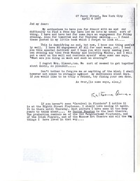 Letter from Katherine Anne Porter to Genevieve Taggard, April 06, 1937