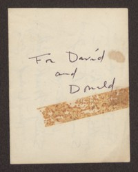 Letter from Katherine Anne Porter to David P. Heintze and Donald B. Heintze, circa December 1957