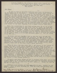 Letter from Katherine Anne Porter to Eugene Pressly, May 14, 1937