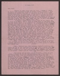 Letter from Katherine Anne Porter to Paul Porter Jr., July 19, 1949