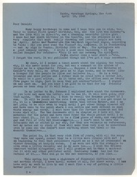 Letter from Katherine Anne Porter to Donald Elder, April 15, 1942