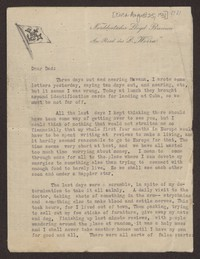 Letter from Katherine Anne Porter to Harrison  B Porter, circa August 25, 1931