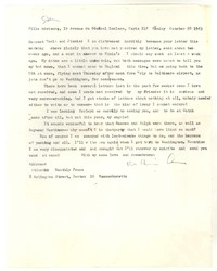 Letter from Katherine Anne Porter to James Stern and Tania Stern, October 28, 1963