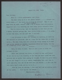 Letter from Katherine Anne Porter to Albert Erskine, August 21, 1941
