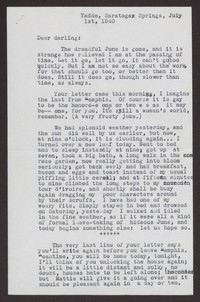 Letter from Katherine Anne Porter to Albert Erskine, July 01, 1940