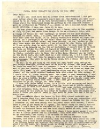 Letter from Katherine Anne Porter to William Goyen, July 11, 1952