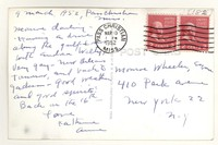Letter from Katherine Anne Porter to Monroe Wheeler, March 09, 1952