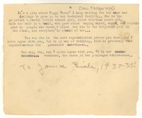Letter from Katherine Anne Porter to Janice Biala, October 09, 1933