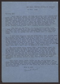 Letter from Katherine Anne Porter to Ann Holloway Heintze, July 26, 1945