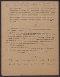Letter from Katherine Anne Porter to Eugene Pressly, after October 17, 1930