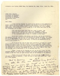Letter from Katherine Anne Porter to Allen Tate, March 30, 1963