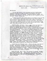 Letter from Katherine Anne Porter to Malcolm Cowley, June 17, 1930