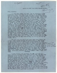 Letter from Katherine Anne Porter to William Goyen, April 16, 1951