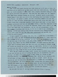 Letter from Katherine Anne Porter to Gay Porter Holloway, April 08, 1957