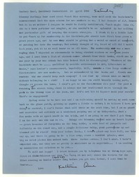 Letter from Katherine Anne Porter to Glenway Wescott, April 26, 1958