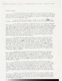Letter from Katherine Anne Porter to Gay Porter Holloway, February 18, 1963
