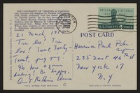Letter from Katherine Anne Porter to Paul Porter Jr., March 21, 1959