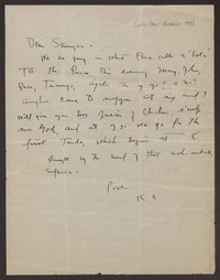 Letter from Katherine Anne Porter to Eugene Pressly, circa June-October 1930