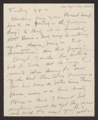 Letter from Katherine Anne Porter to Albert Erskine, April 28, 1939