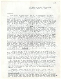 Letter from Katherine Anne Porter to Glenway Wescott, March 27, 1939