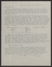 Letter from Katherine Anne Porter to Albert Erskine, March 10, 1938