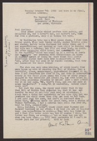 Letter from Katherine Anne Porter to Paul Porter Jr., October 06, 1953
