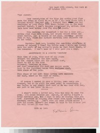 Letter from Katherine Anne Porter to Gay Porter Holloway, October 28, 1950