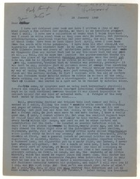 Letter from Katherine Anne Porter to Josephine Herbst, January 18, 1948