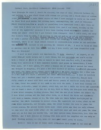 Letter from Katherine Anne Porter to Glenway Wescott, January 25, 1957