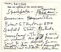 Letter from Katherine Anne Porter to Isabel Bayley, May 26, 1968