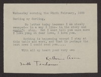 Letter from Katherine Anne Porter to Albert Erskine, February 09, 1938