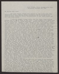 Letter from Katherine Anne Porter to Albert Erskine, February 25, 1938
