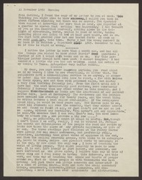 Letter from Katherine Anne Porter to Paul Porter Jr., November 11, 1952