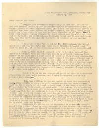 Letter from Katherine Anne Porter to Ford Maddox Ford and Janice Biala, August 03, 1934